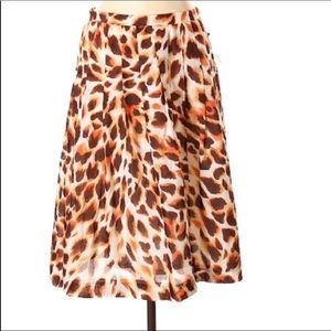 Anne Klein Animal Print Skirt